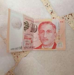 Singapore $10