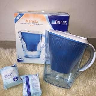 BRITA Marella Meter Water Filter Jug Cool Classic Blue