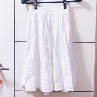 ZARA x 白色鬆緊腰長裙