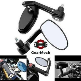 *New* Oval Bar End Mirror For Motorbikes