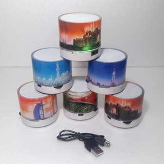 Speaker Bluetooth Led Mini Portable Lampu Disco