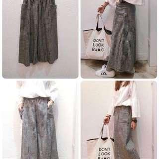❤️韓國雙口袋格子寬褲❤️