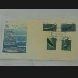 1982 Australia Whales fdc