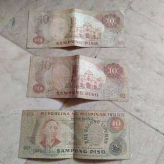 Old ten pesos bill 700 each