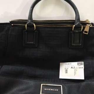 Givenchy black canvas and leather handbag