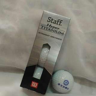 🚚 Wilson高爾夫球一盒3顆