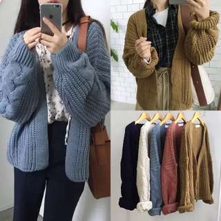 Free size thick knit outfit jacket 厚針織外套 5色