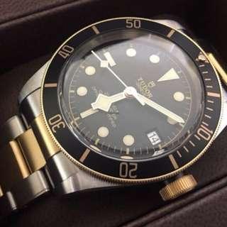 帝陀 (Tudor) : Heritage Black Bay S&G : 79733N : Stainless Steel & Gold