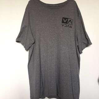 RVCA Grey Standard Fit tee size XXL (Worn 1-2 times) Baggy fit