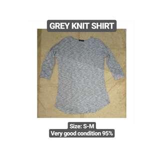 Grey Knit Shirt