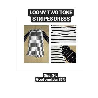 Two Tone Stripes Dress