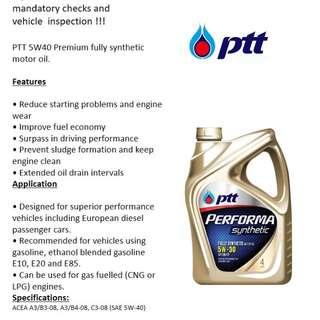 Engine Oil PTT