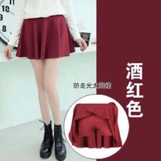 Wine red skirt/skort
