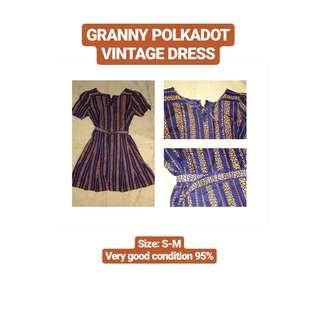 Granny Polkadot Vintage Dress