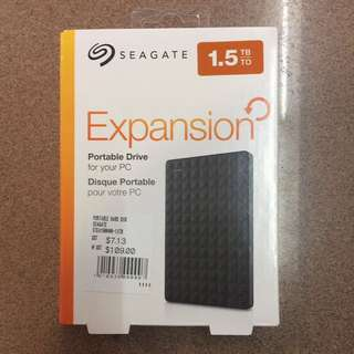 Brand New 1.5TB Seagate portable external hard disc drive sealed