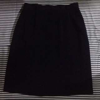 Knee skirt dark blue