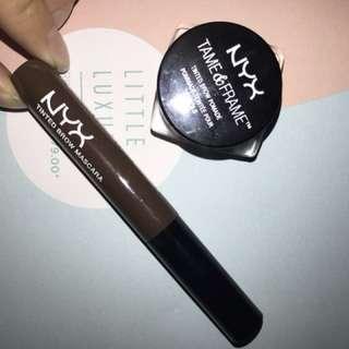 Nyx tame & frame and tinted brow mascara