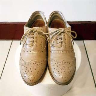 訂製款真皮雕花牛津鞋(size39-40)