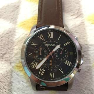 Fossil men's chronograph grant watch