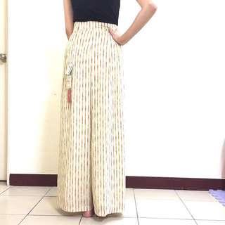 寇蒂莉雅高腰寬版長褲26號(直條紋)*出清*