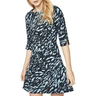 Closet Split Sleeve Dress, Multi