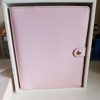 Kikki.k pink leather planner large
