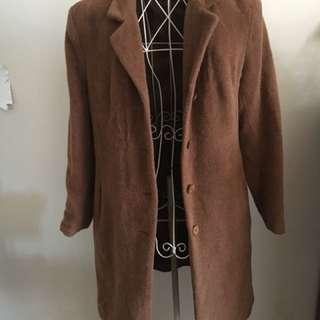 Vintage brown wool coat