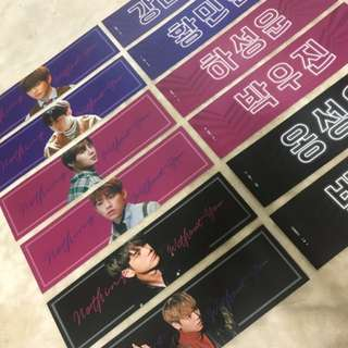 Wanna One Fanmade Slogan & Sticker Set