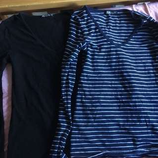 2 for 1 cotton on long sleeve . Size s&m