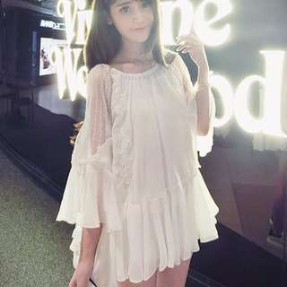 Chiffon White Dress/Top