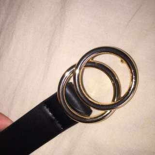 Supre black and gold belt