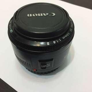 Canon Lens EF 50mm 1:1:8 II