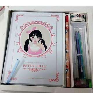 Cute Girl Petite File Korean Diary Yearly Planner Set