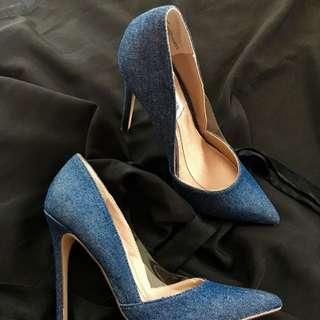 Brand New Steve Madden Denim Wileen High Heels
