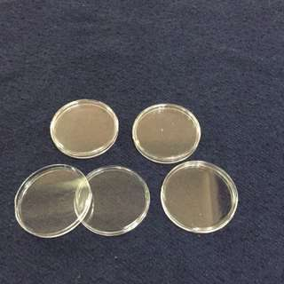 2x Coin Capsule, Plastic For 40mm Diameter Coin