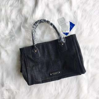 Authentic Burberry Blue Label Crestbridge Denim Tote Bag