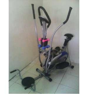 Sepeda Plat Orbitack Crosstrainer 5 Fungsi Paling Murah
