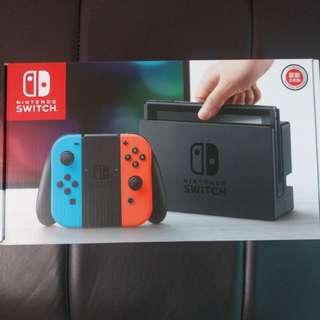 🚚 全新 任天堂 switch 紅藍控制器 台灣公司貨