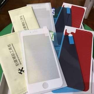 iPhone 7 全屏軟邊鋼化膜(白色)套裝