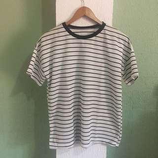 Oversized white/black striped shirt