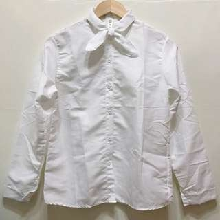 ♡領結白襯衫/領結可以拆