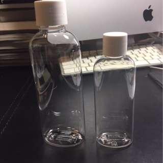 全新透明75ml/150ml 試用產品塑膠瓶(連內塞瓶蓋), 每組各10個