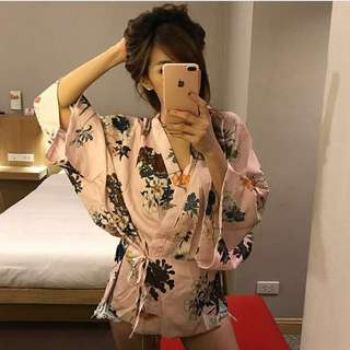 Kimono top babypink