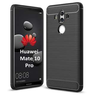 Huawei Mate 10 Pro Case Back Rugged Series Soft Case Black