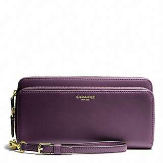 Coach 紫色長銀包