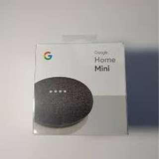 Google Home Mini Charcoal Brand New