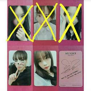 [WTB/LF] Taeyeon My Voice Deluxe Edition OFFICIAL Photocard