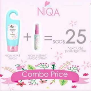 (SPECIAL COMBO PRICE!) Authentic Niqa Instant Magic Spray Hijab Wash For All Muslimah Needs PO