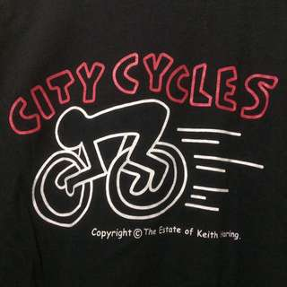 "Ts Keith Haring ""City Cycle"" sz L buildup (P77:L58(9/10)"