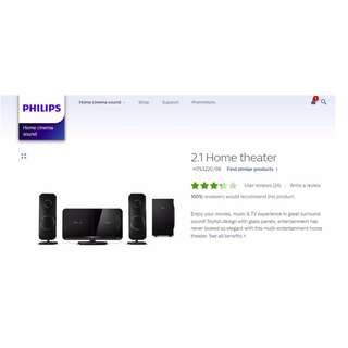 Philip 2.1 Ch Home Theater system